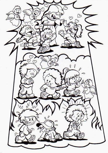 Resultado de imagen para dibujos de purgatorio para colorear