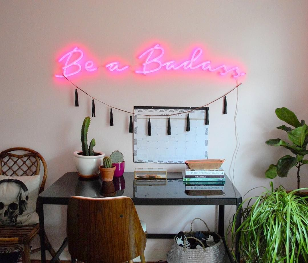 Be A Badass   By Brite Lite Tribe, Design On Customizer Wander Font, Pink