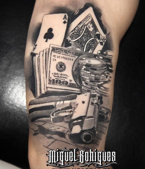 tatuaje cartas de poker miguel bohigues vtattoo tattoo ideas pinterest. Black Bedroom Furniture Sets. Home Design Ideas