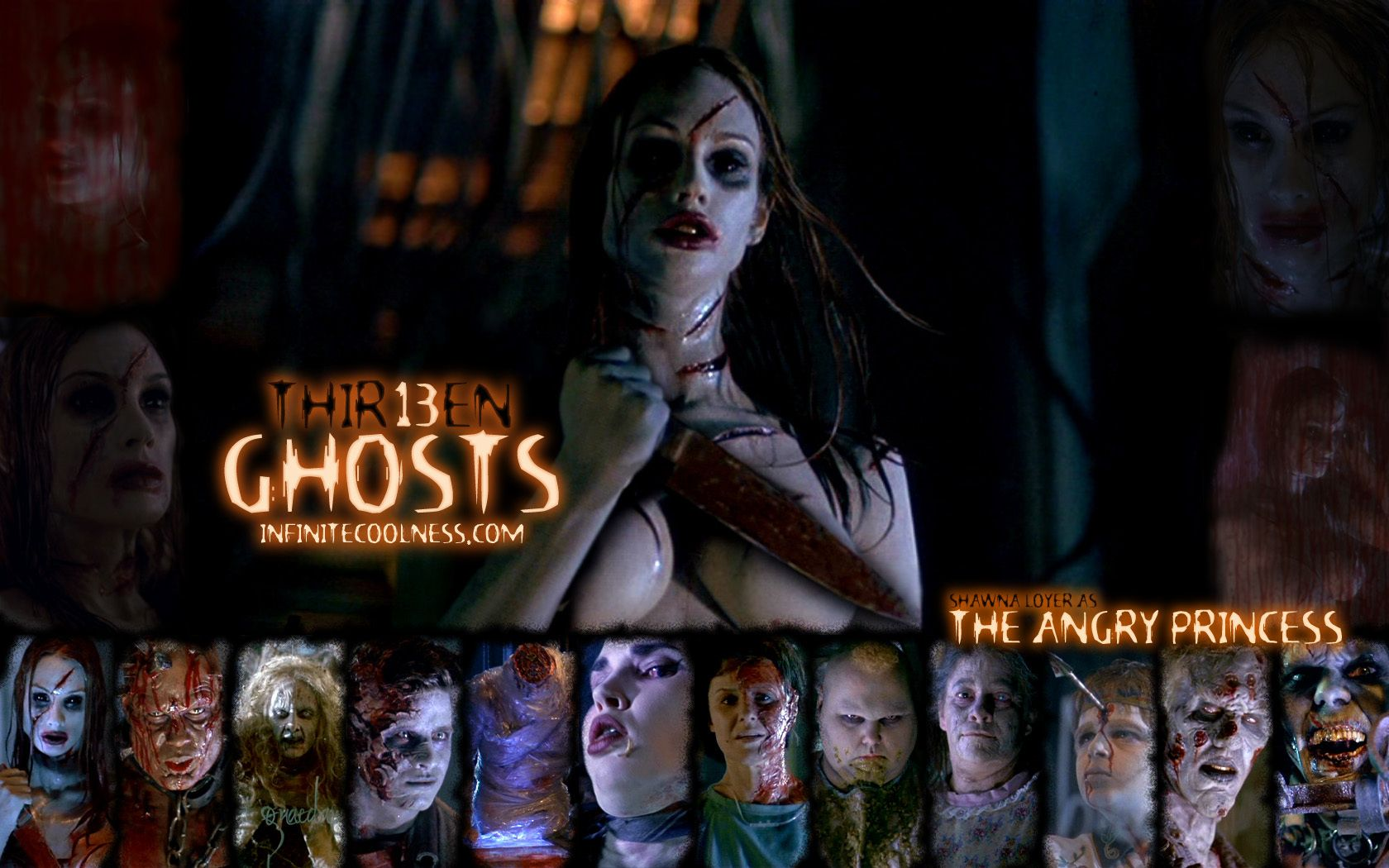 Thir13en Ghosts Wallpaper Thir13en Ghosts Wallpaper Horror Movie Characters Ghost Movies Scary Movies