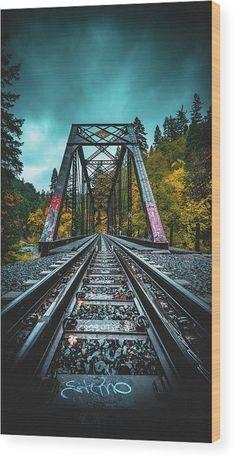 Dunsmir Bridge Wood Print by Kyle Duffy