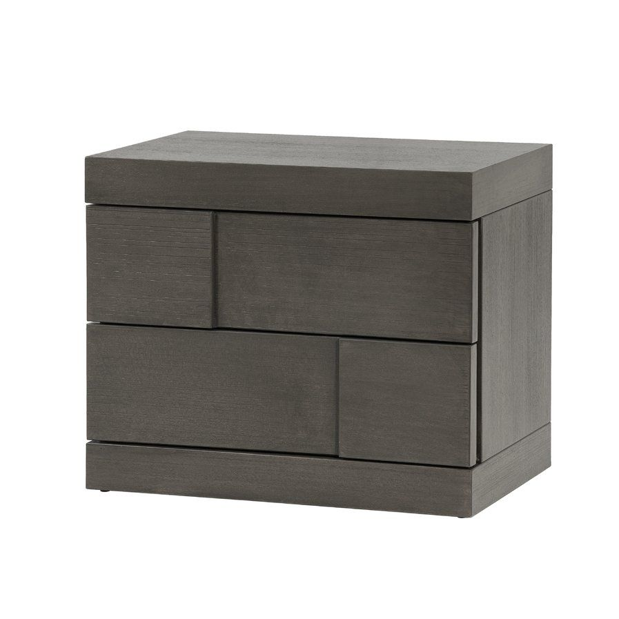 Best Yusuf 2 Drawer Nightstand Chintaly Modern Nightstand 400 x 300