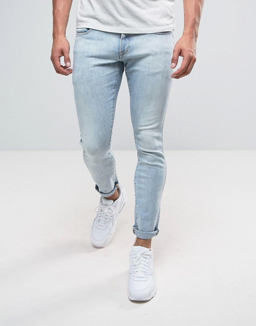 G Star 3301 Deconstructed Super Slim Jeans Light Aged Wash