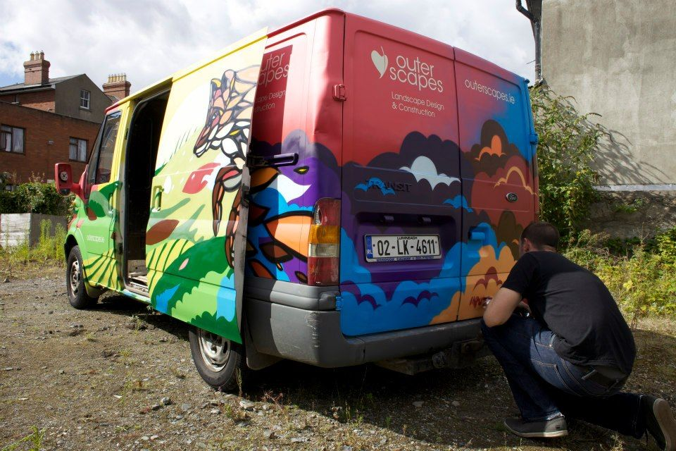 The clouds on Outer scapes van