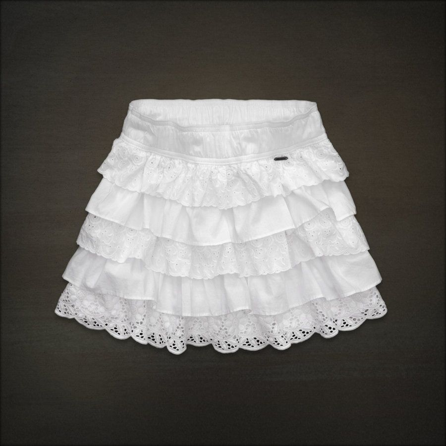 Abercrombie & Fitch white skirt