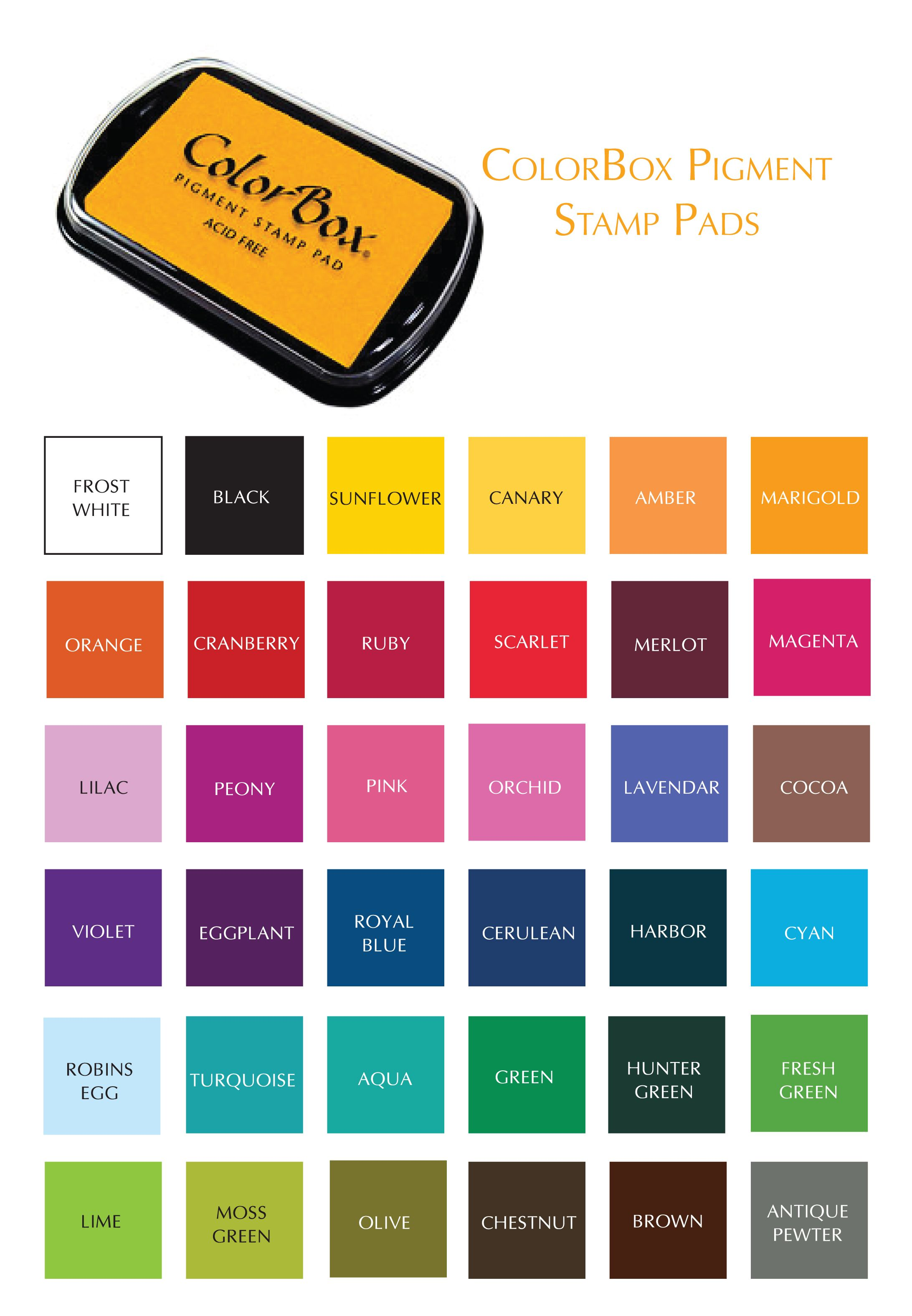 Colorbox Pigment Ink Color Chart Google Search