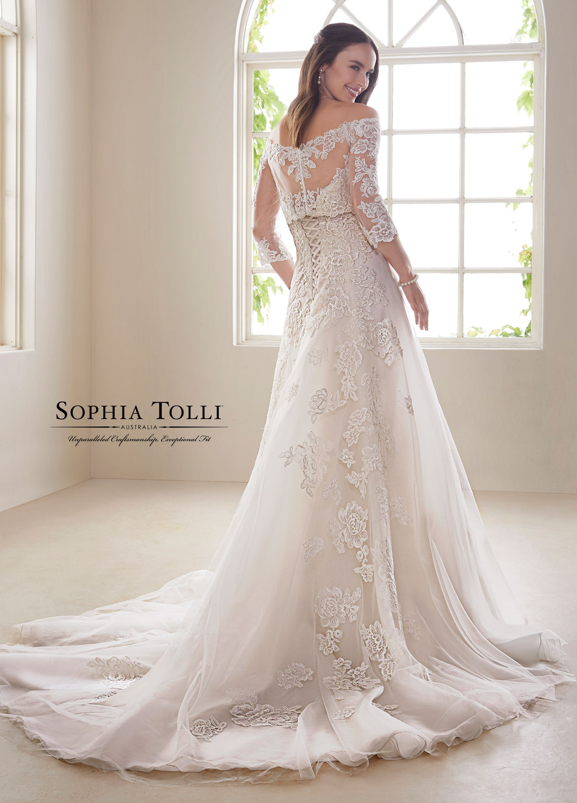 ca4034ed1902 ... Classically elegant, misty tulle and organza A-line gown Zirconia is a  real beauty. The stunning gown offers a strapless sweetheart bodice with  lace ...