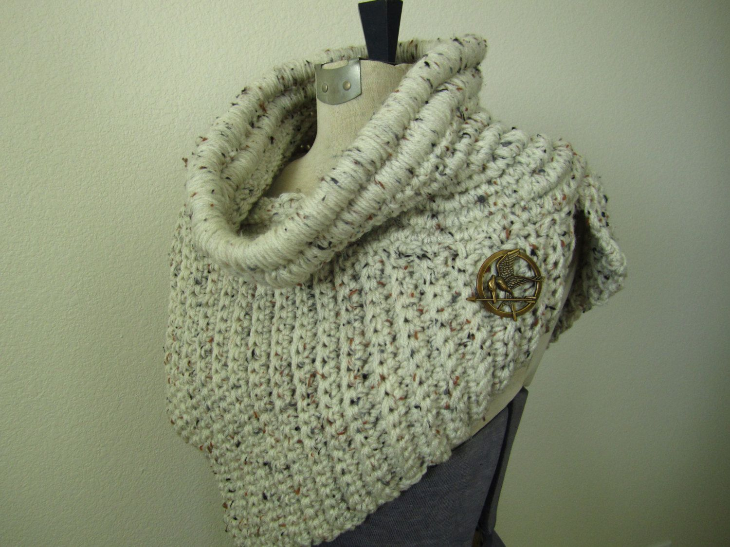 Hunger Games Katniss Cowl Shawl Wrap Scarf Poncho by HookedKnits ...