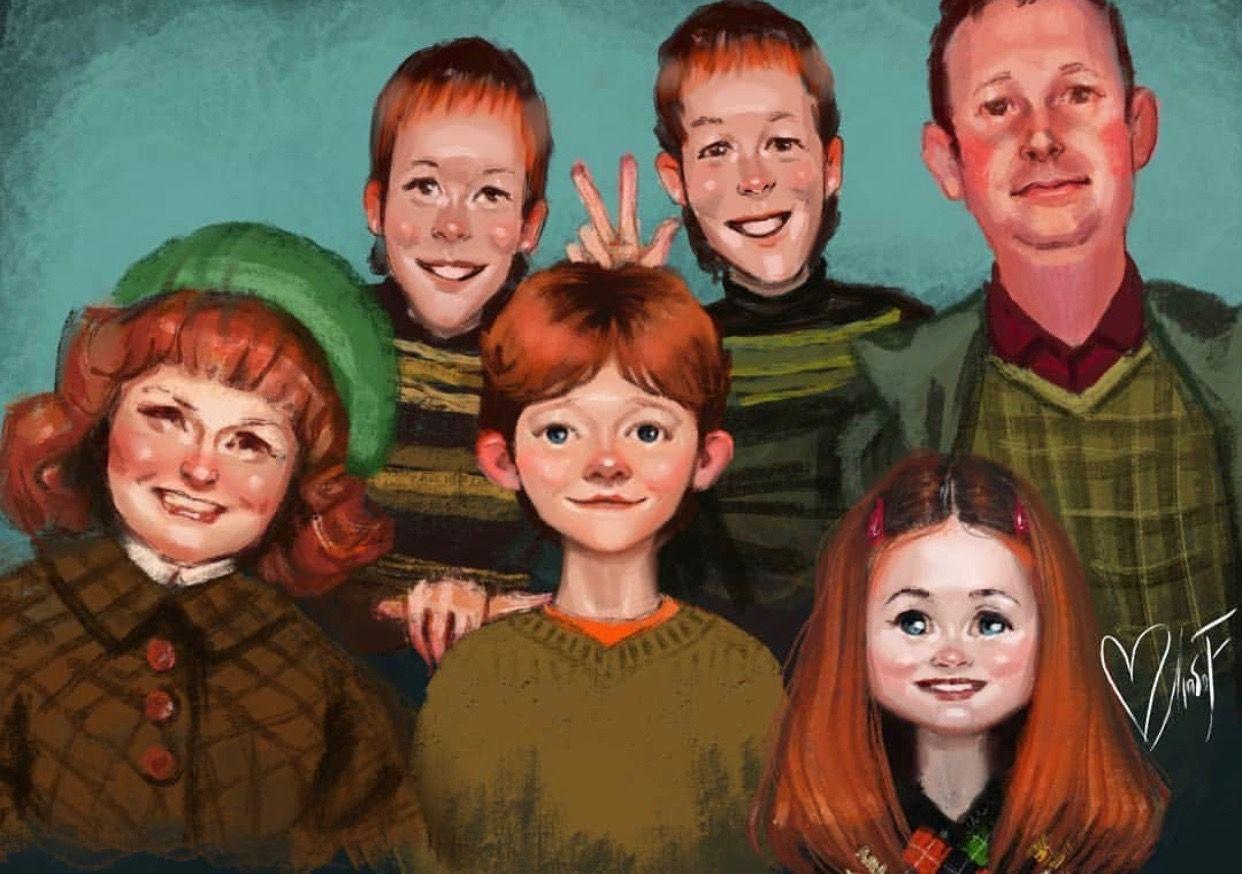 Liubofirst Hp Weasley Family Harry Potter Artwork Harry Potter Art Harry Potter Fan Art