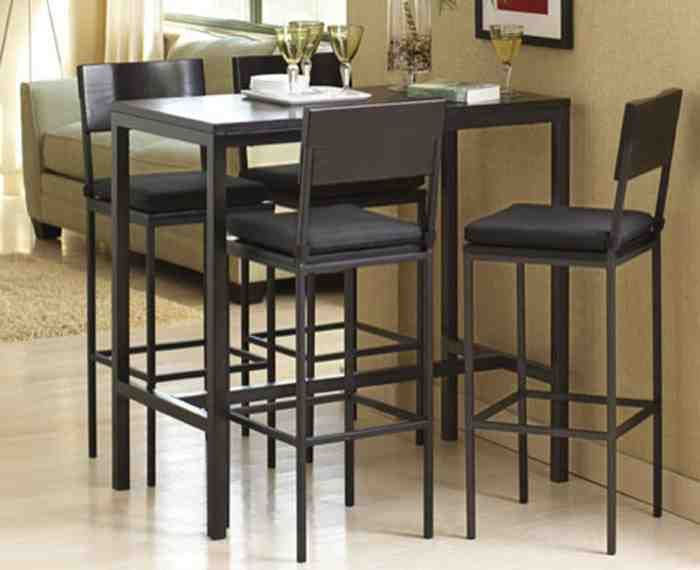 Tall Kitchen Table And Chairs In
