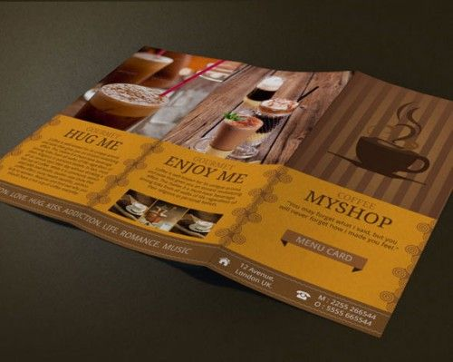 Coffee Shop Flyer Template by Christos Andronicou - Dribbble