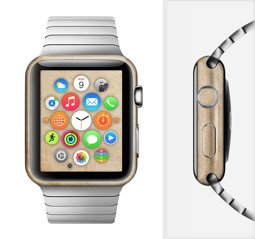 The Grunge Tan Surface Full-Body Skin Set for the Apple Watch