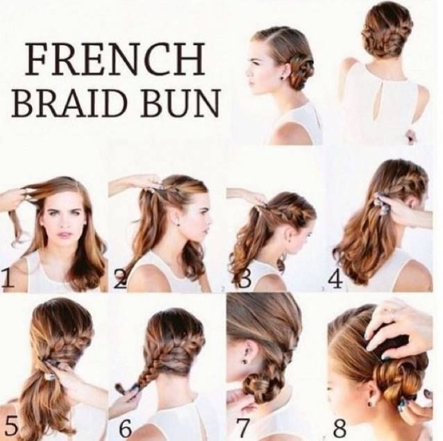 Simple Easy Step By Step Hair Tutorials French Braid Buns French Braid Bun Tutorial Pretty Hairstyles
