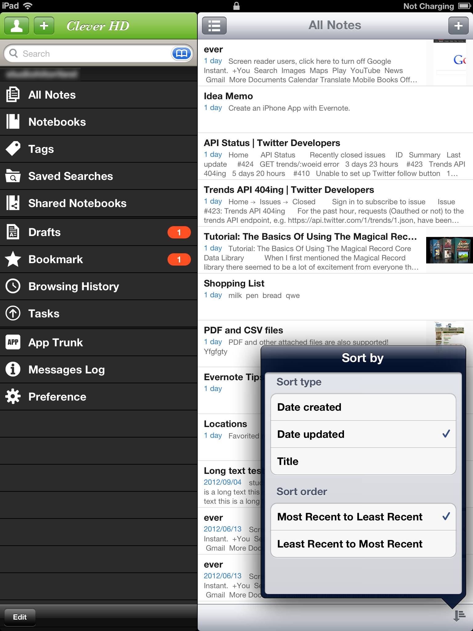 Clever iPad English Evernote App Center Evernote