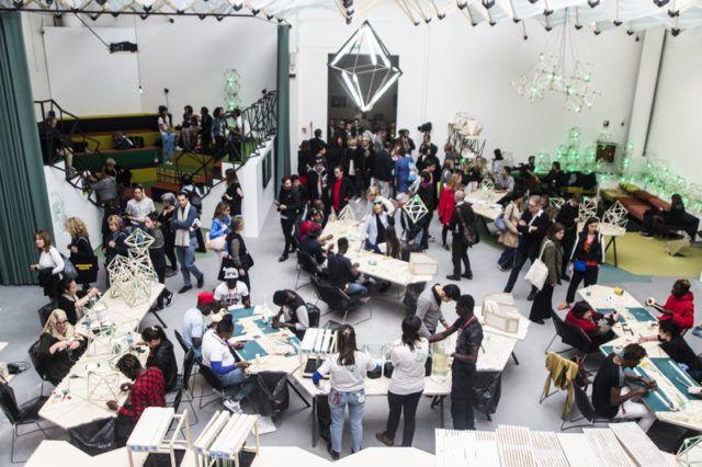 "Olafur Eliasson, ""Green light – An artistic workshop"", installation view, 2017"