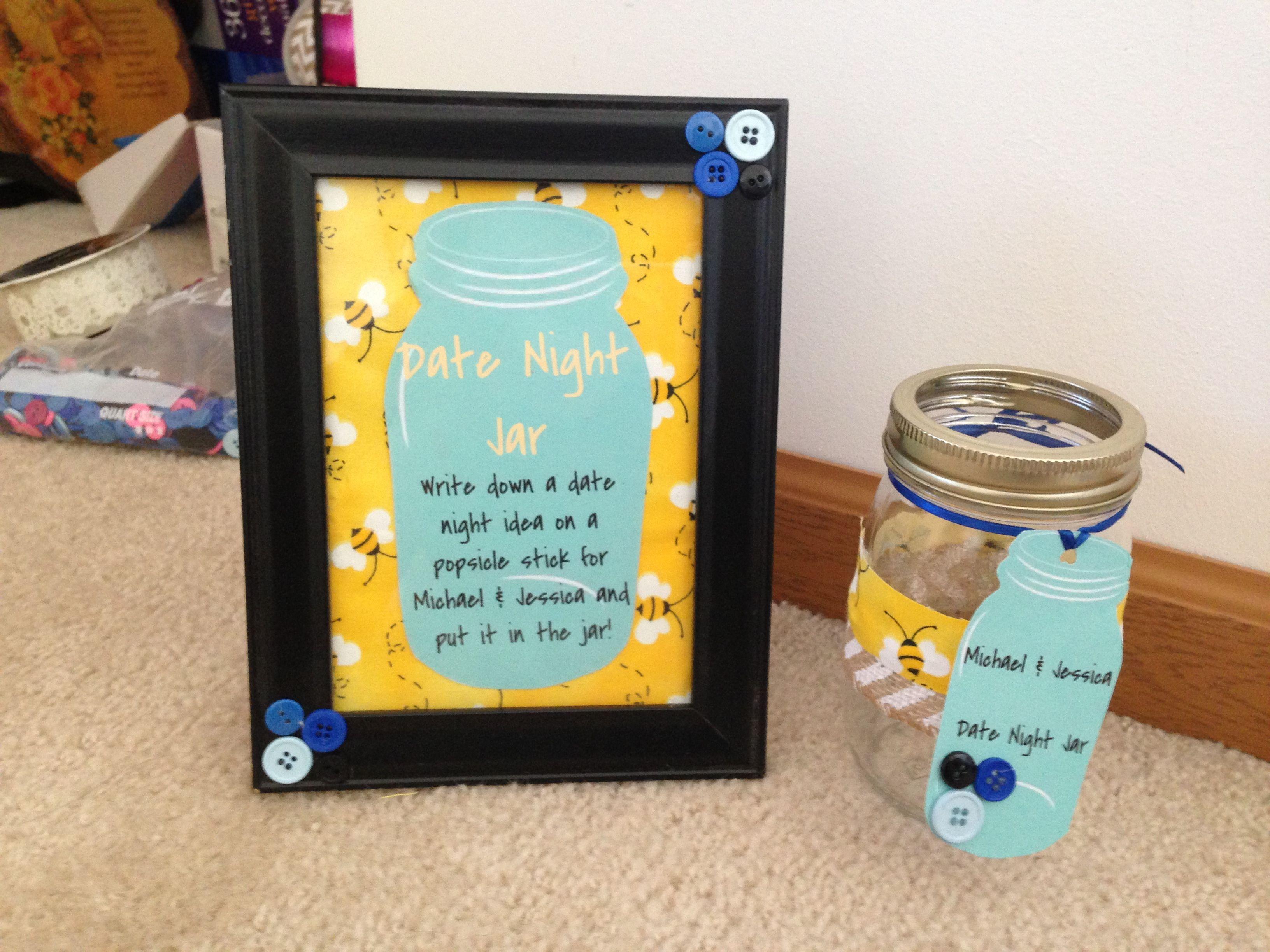 Date Night Jar For Bridal Shower