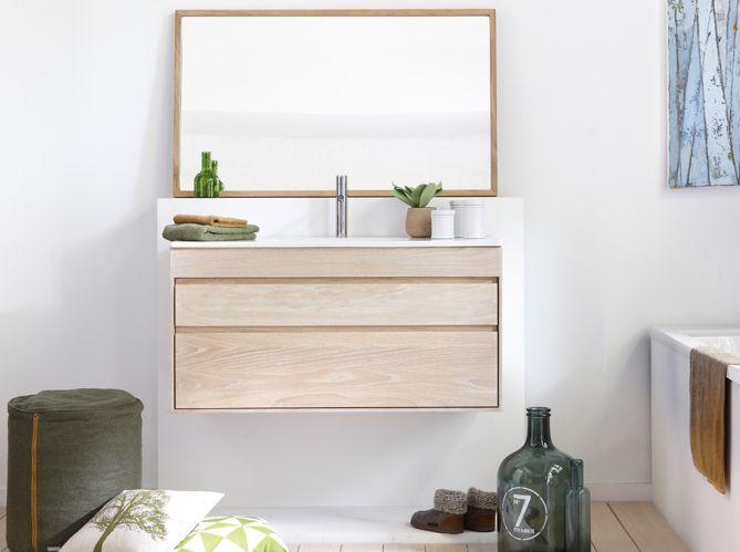 Line Art Bathroom Furniture : Meuble salle de bains bois clair lineart deco