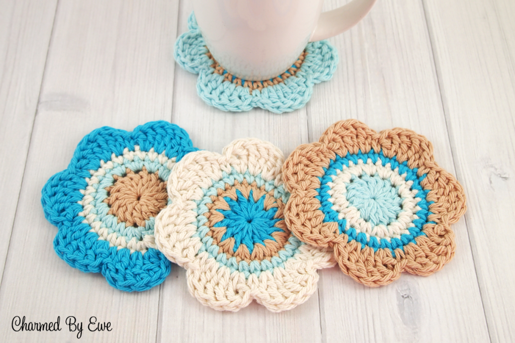 Free Cotton Flower Coasters | Charmed By Ewe | Apliques | Pinterest ...