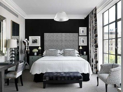 Love The One Black Wall Doing This Hotel Style Bedroom White
