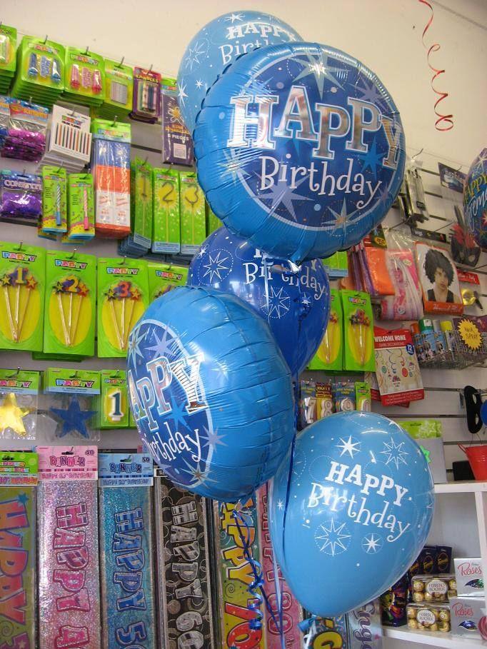 Electric Blue Happy Birthday Bouquet