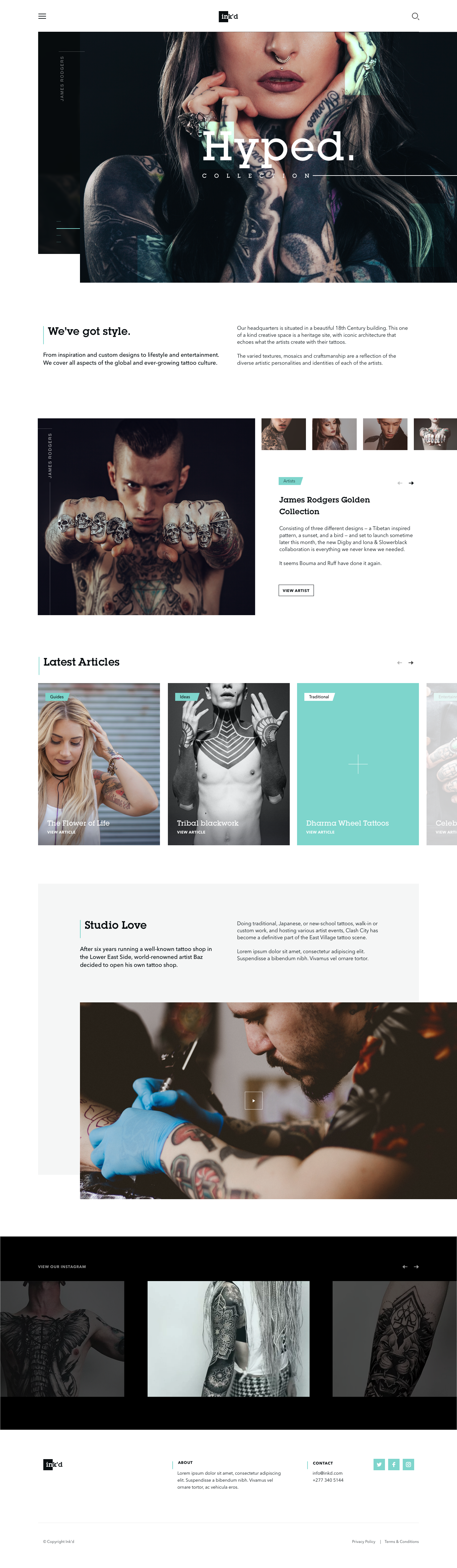 Makereign Tattoo Layout Desktop Web Design Best Landing Page Design Clean Web Design
