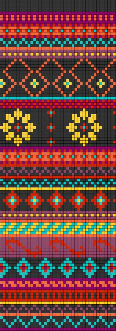 Grille jacquard gratuite | Tapestry crochet, Fair isle chart and ...