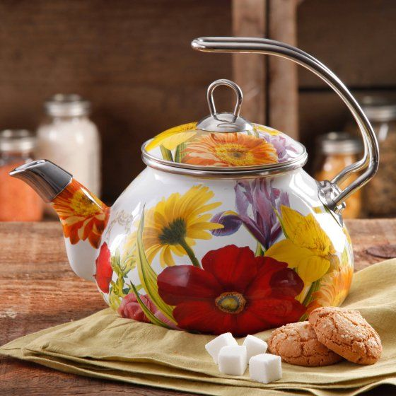 Tea Kettle The Pioneer Woman Dazzling Dahlias 2-Quart