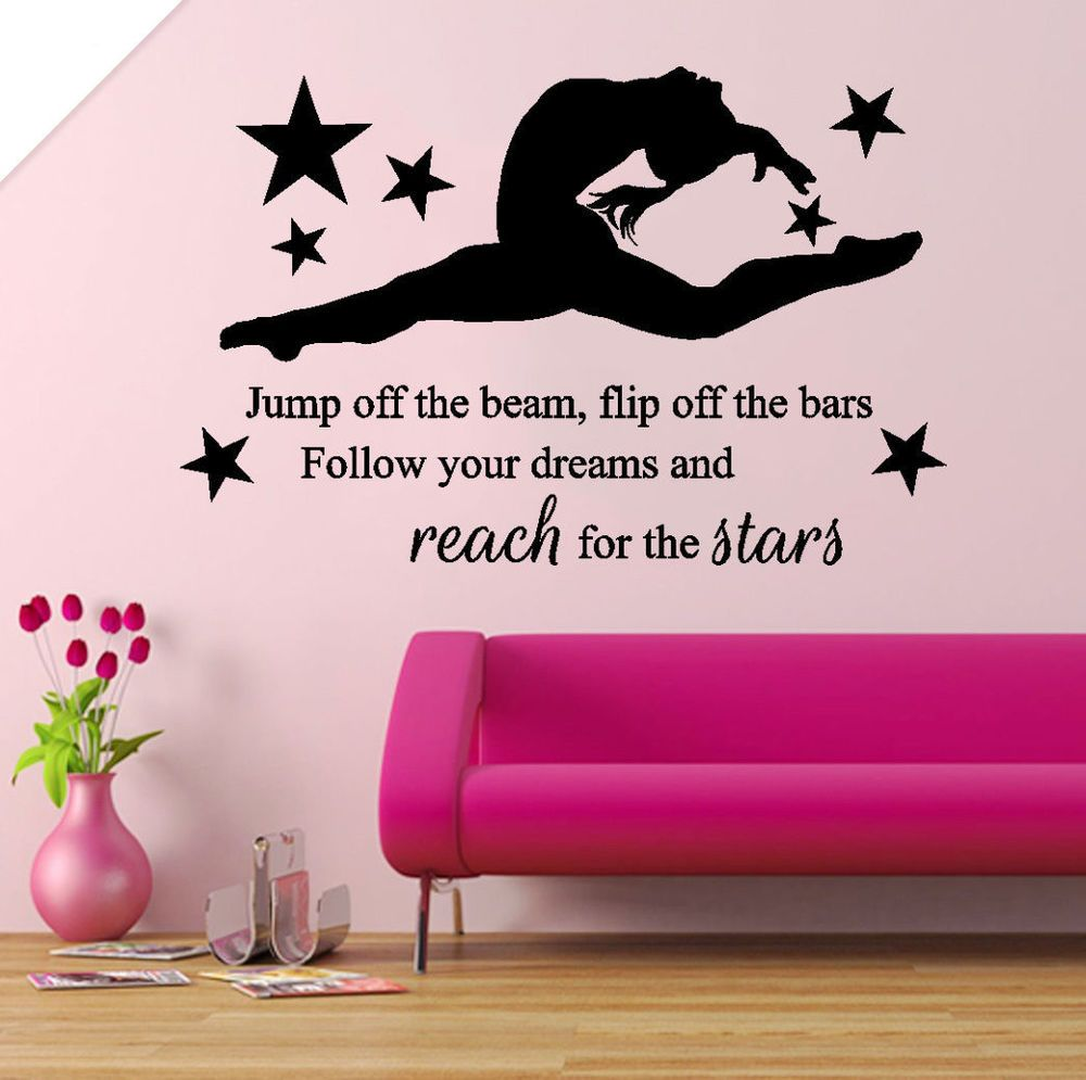 wall stickers custom girl gymnast gymnastics dance decal decor
