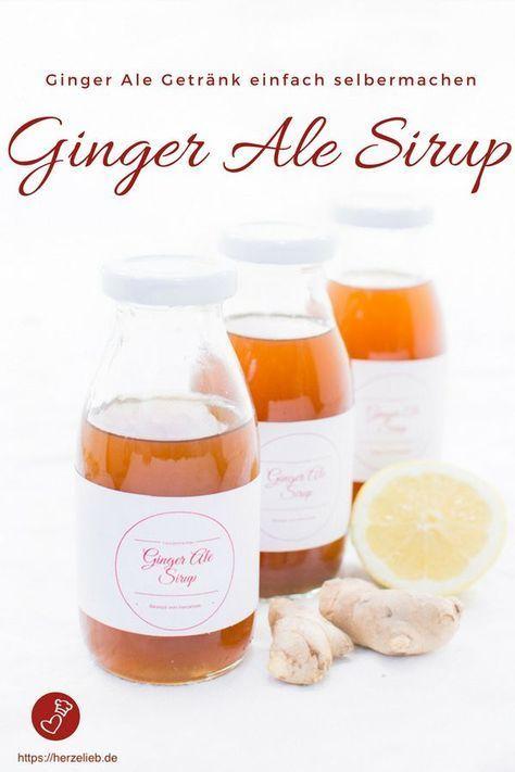 Ginger Ale Sirup - Rezept für eine erfrischende Getränkegrundlage