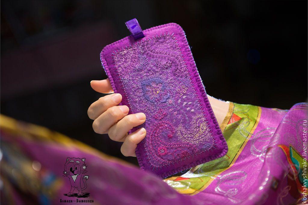 """Купить """"Сон Индии"""" - чехол для телефона, планшета, айфона - чехол для телефона, вышивка ручная"""