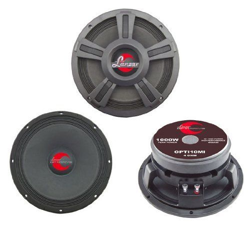 Lanzar OPTI10MI Opti Pro 1000 Watts 10 High Power Midbass Sound Around