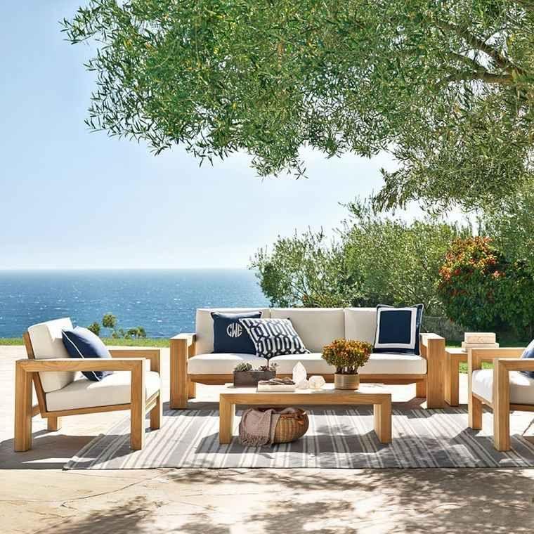 Salon De Jardin Teck Bois Massif Canape Table Basse Fauteuil Terrasse Williamssonoma Teak Outdoor Outdoor Living Room Outdoor Living