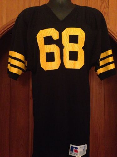 d0e43aafbb336 Vtg Russell Athletic Pittsburgh Steelers  68 Football Black Jersey Shirt  Med Men