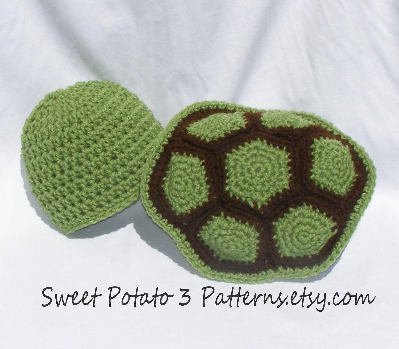 PATTERN Turtle Shell & Hat Photo Prop - Crochet. $5.25, via Etsy.