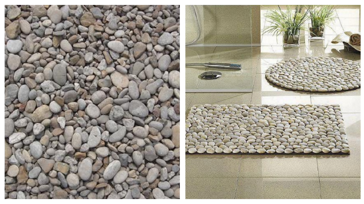 Collect stone pebbles for free at the beach--and with a cheap outdoor rubber mat and silicone sealer from the hardware store, add a stone spa mat to your bathroom. Get the instructions here.