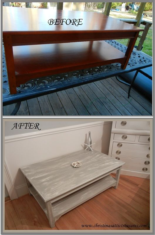 before and after gorgeous annie sloan's paris gray chalk painted