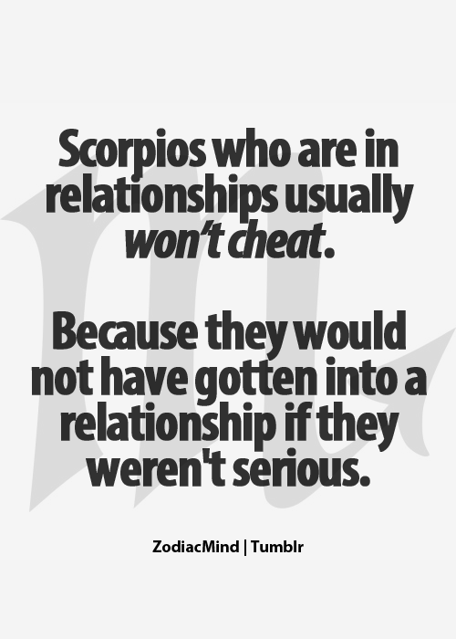 Are scorpios cheaters