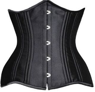 26 Double Steel Boned Waist Trainer Keep Slim Nylon Underbust Corset Shapewear
