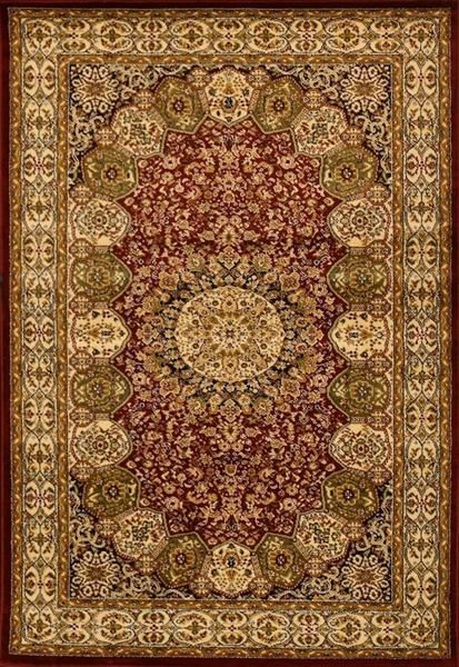 Red Green Persian Rugs Isfahan Oriental Large Area Traditional