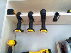 Cordless power tool storage station & Cordless power tool storage station   garage storage ideas ...
