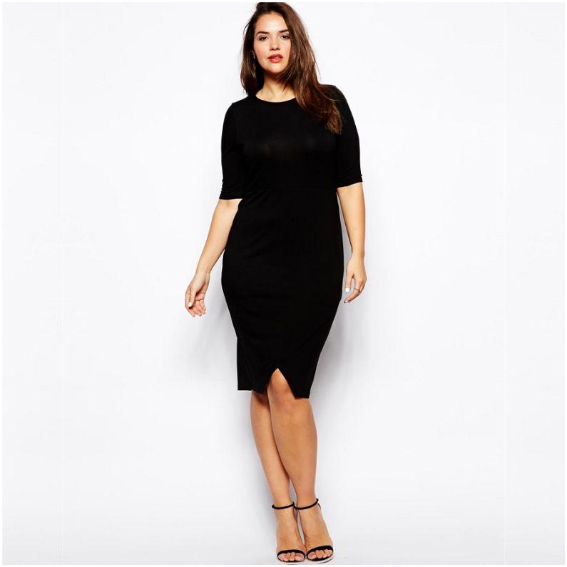 Modelos de vestidos casuales color negro