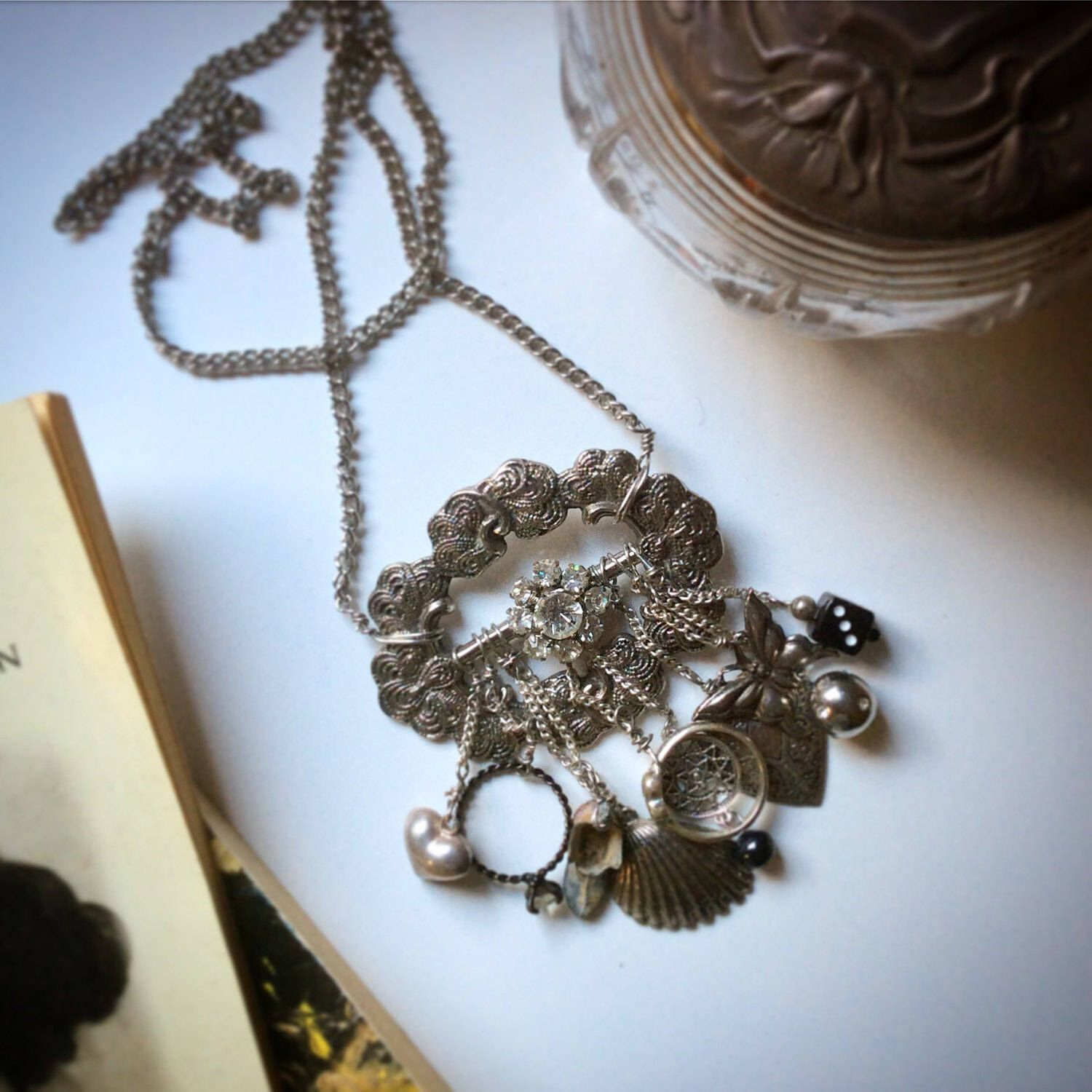 A personal favourite from my Etsy shop https://www.etsy.com/au/listing/503632364/arabella-steampunk-necklace