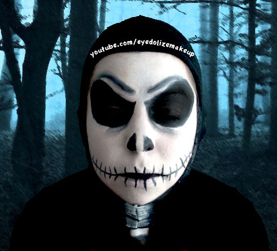 Jack Skellington Halloween Makeup Tutorial! Check it out on my ...