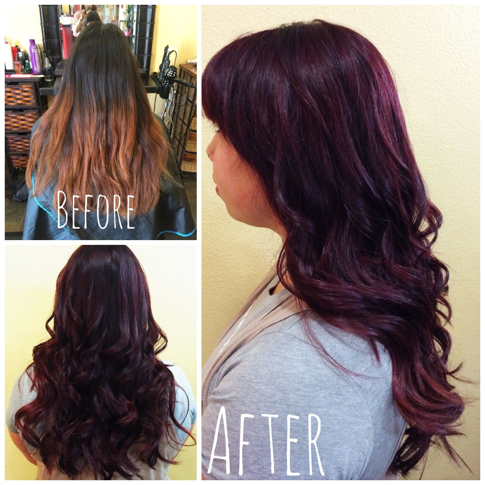 Merlot hair color - Merlot Red Hair Color From Today No More Ombr By Ashley Zenful