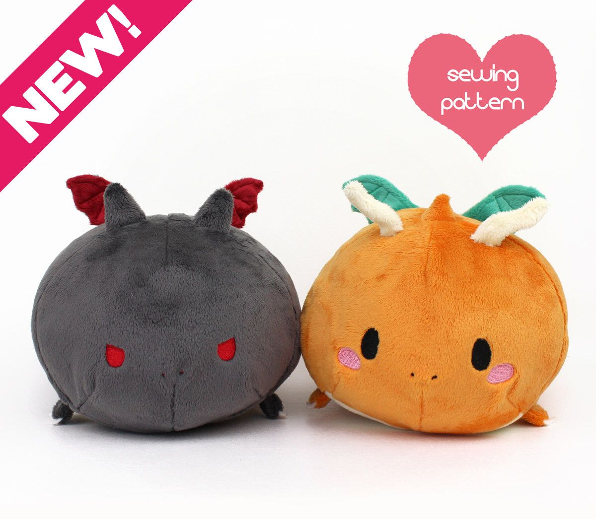 PDF sewing pattern - Charizard Dragon Roll plush - stacking Pokemon ...