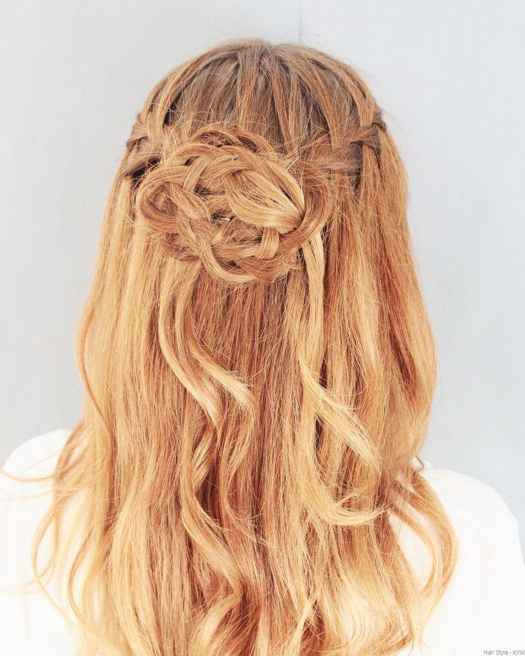 waterfall hairstyle   wasserfall frisur, frisuren