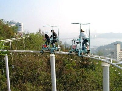 TreeHugger-Style Roller Coaster in Japan: It's Pedal Powered