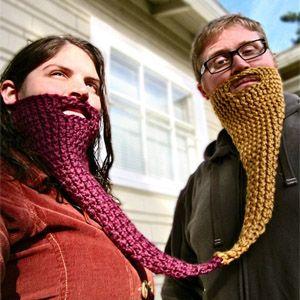 вязаная борода вязаниешапки бороды смех подарки вязание