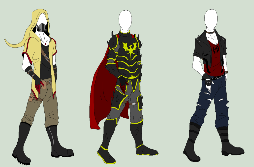 Male Outfit Adopts 3 SOLD by ShadowInkAdopts.deviantart