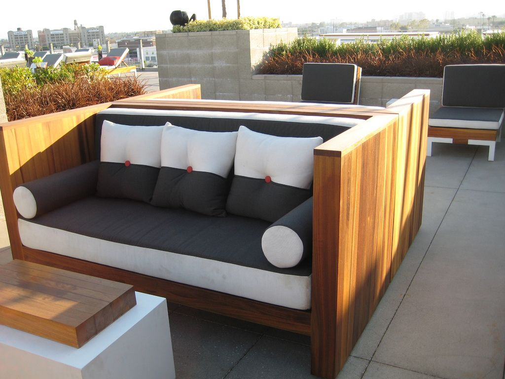 Pallet patio furniture cushions - Outdoor